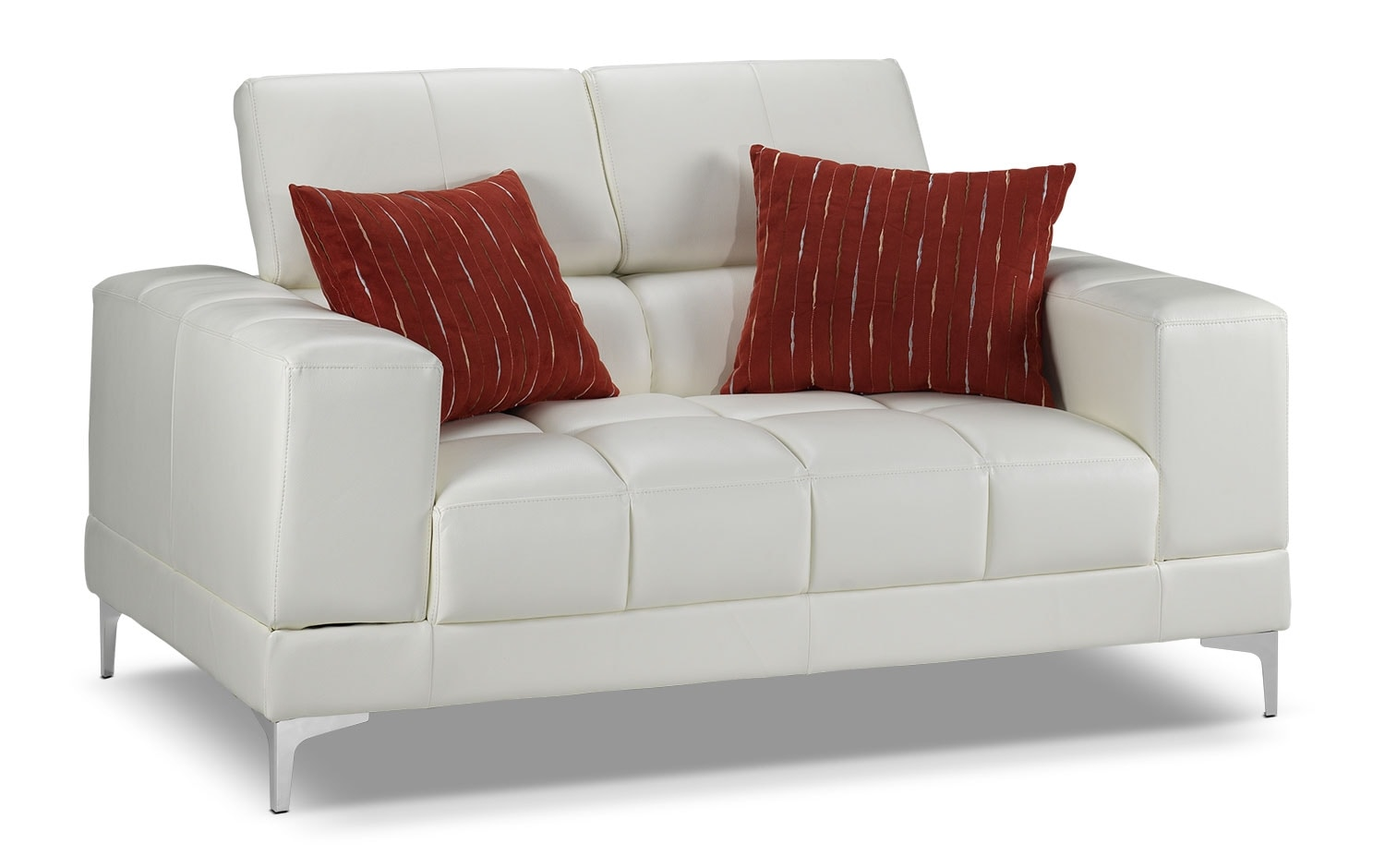 Living Room Furniture - Bel-Air Loveseat - White