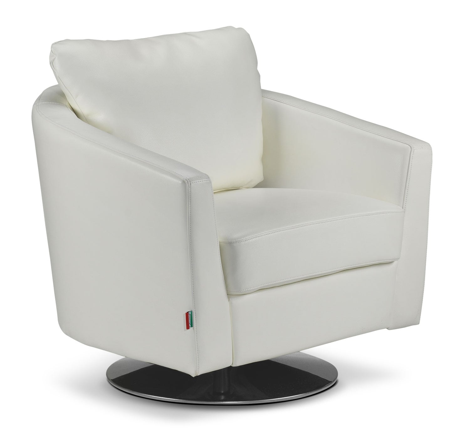 Living Room Furniture - Bel-Air Swivel Chair - White