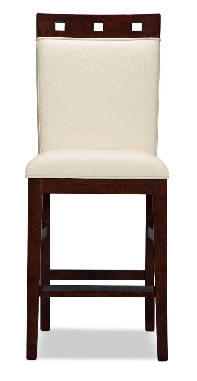 Chaise de salle manger zeno de hauteur comptoir dessus en bois brick - Dessus de chaise en bois ...