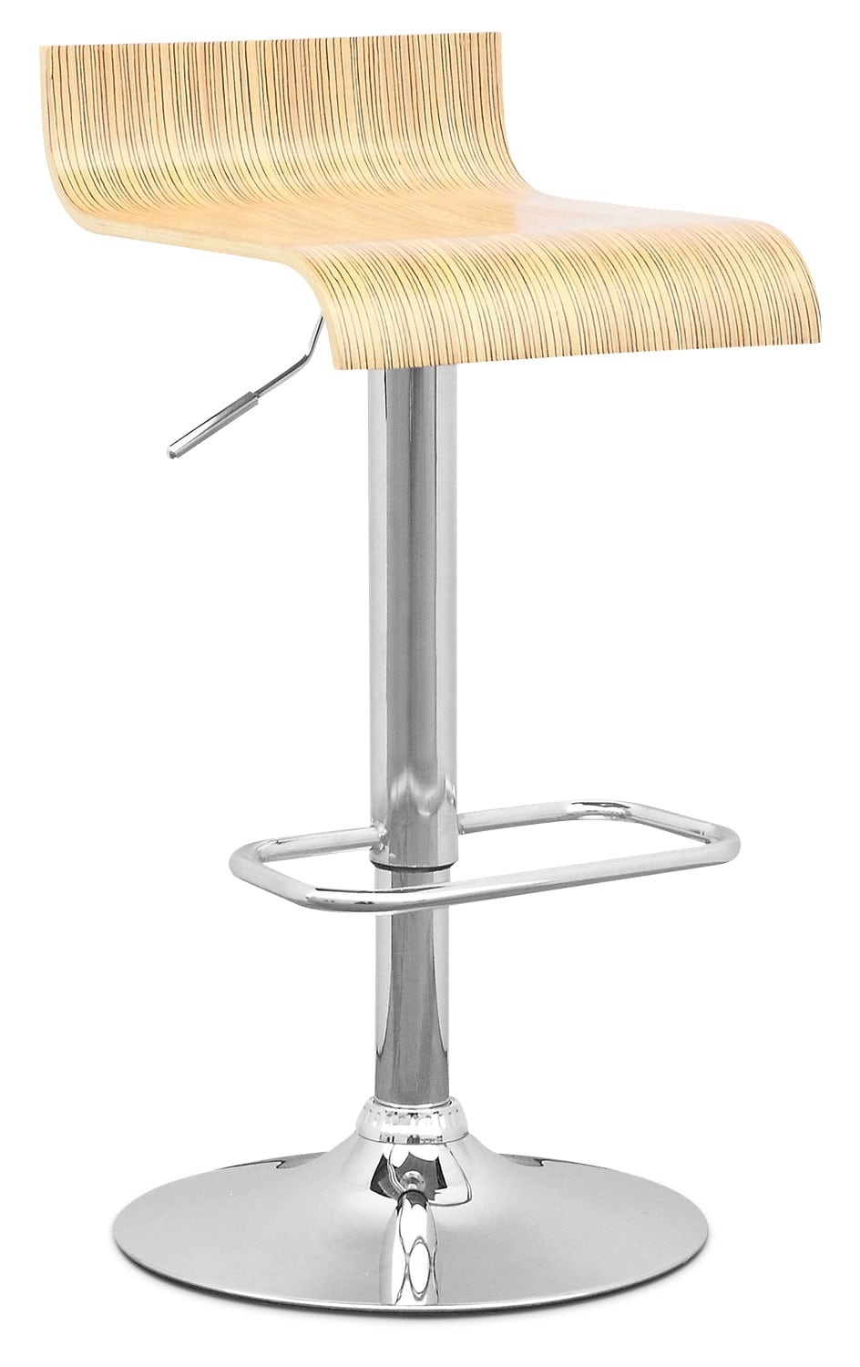Dining Room Furniture - CorLiving Curved-Seat Adjustable Barstool