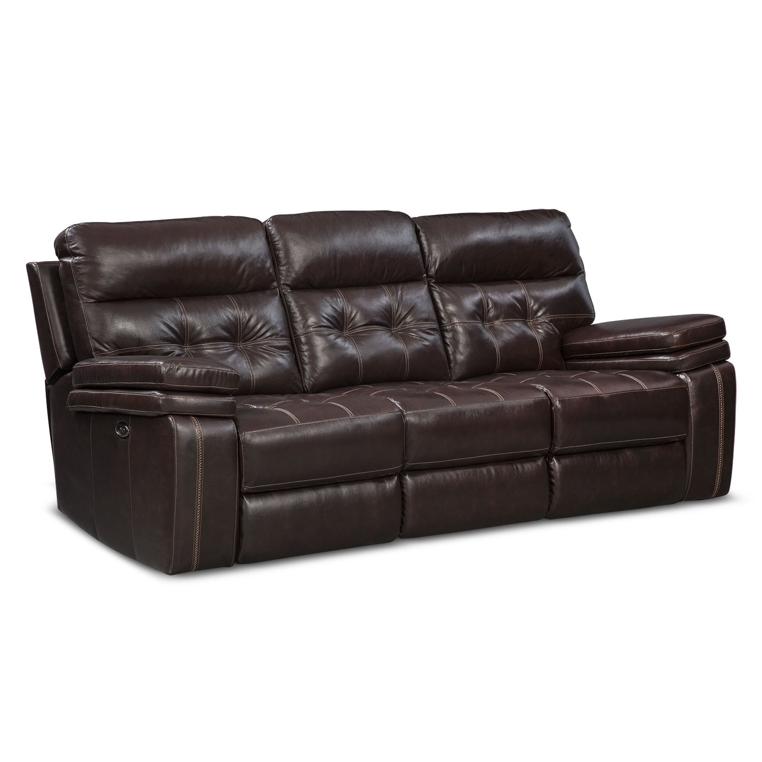 Brisco Power Reclining Sofa And Glider Recliner Brown