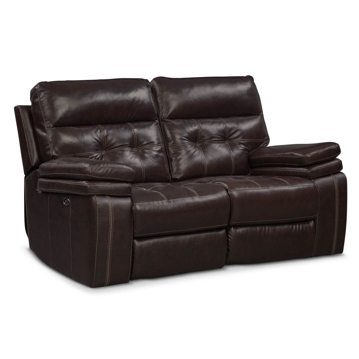 Brisco power reclining sofa and reclining loveseat set brown value city furniture Power loveseat recliner