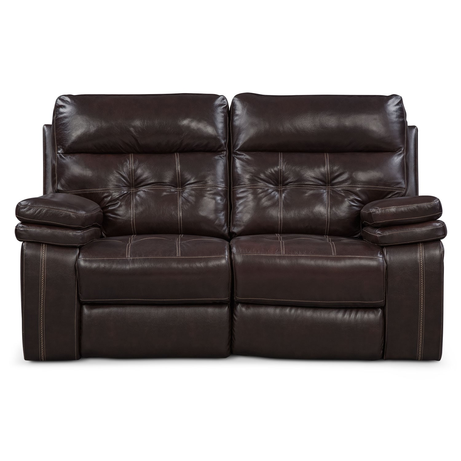 Brisco Power Reclining Loveseat Brown American Signature Furniture
