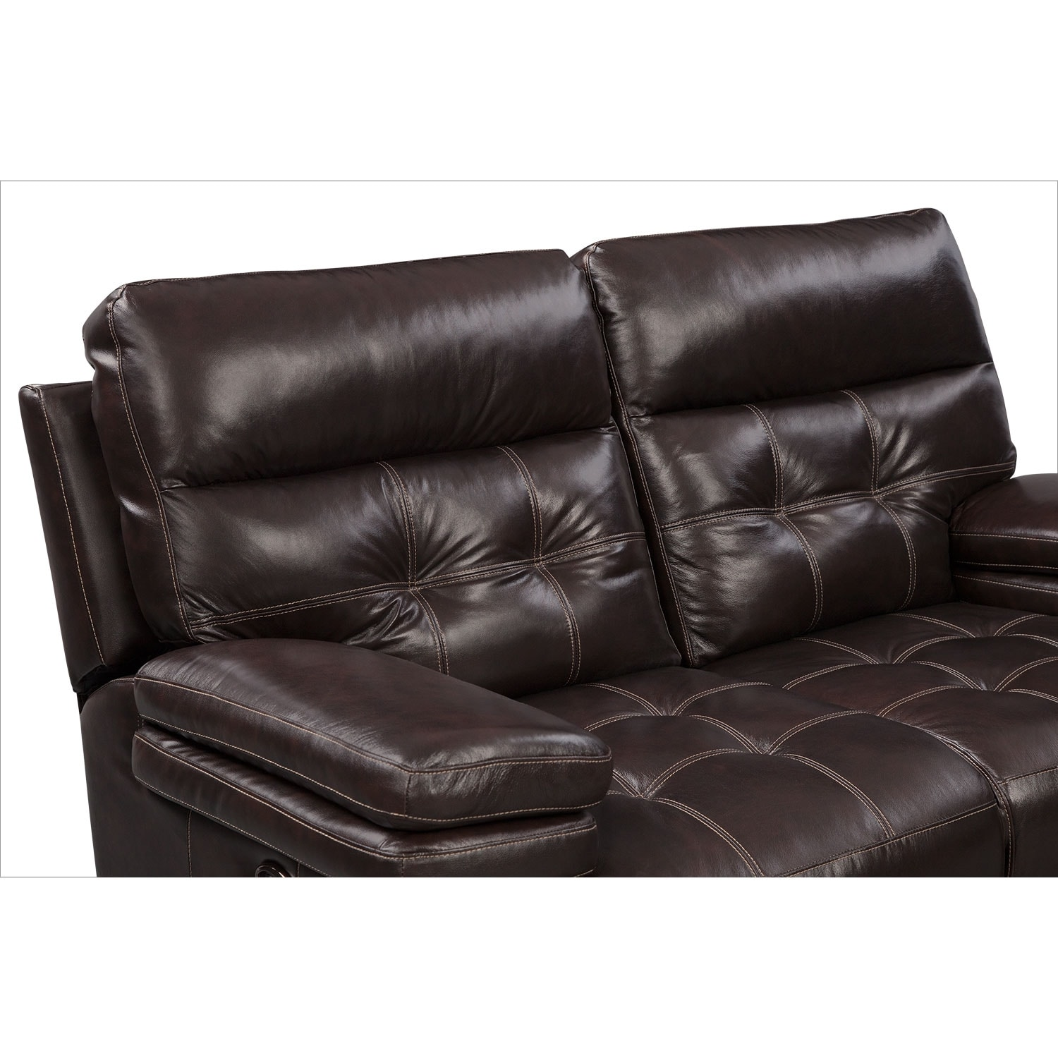 Brisco Power Reclining Loveseat Brown Value City Furniture