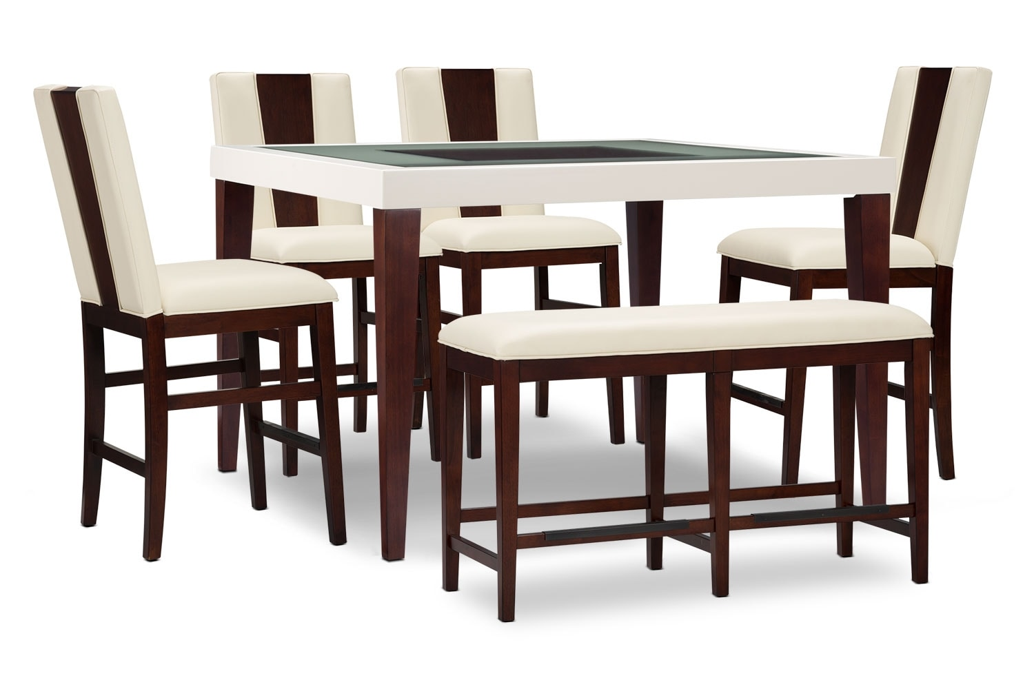 Dining Room Furniture - Zeno 6-Piece Counter-Height Dining Package with Wood Back Chair