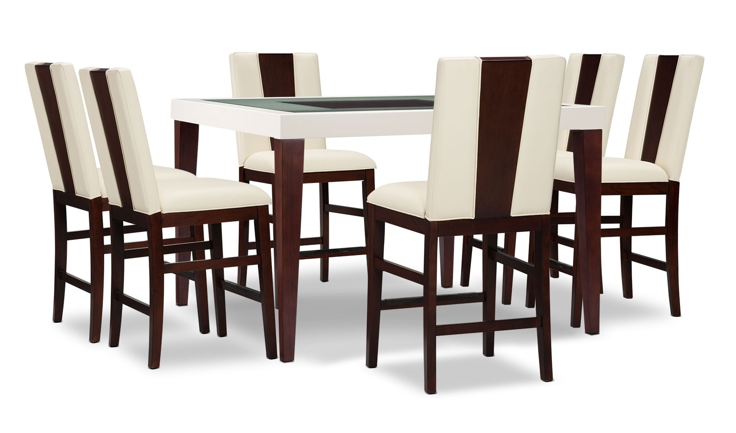 Dining Room Furniture - Zeno 7-Piece Counter-Height Dining Package with Wood Back Chair
