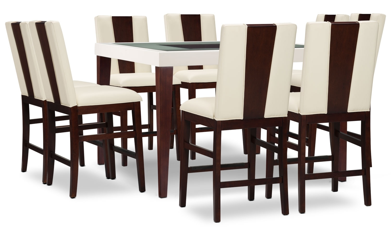 Zeno 9-Piece Counter-Height Dining Package with Wood Back Chair