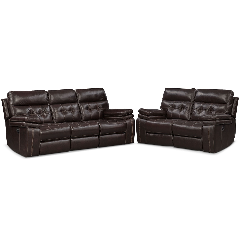 Brisco Manual Reclining Sofa And Reclining Loveseat Set