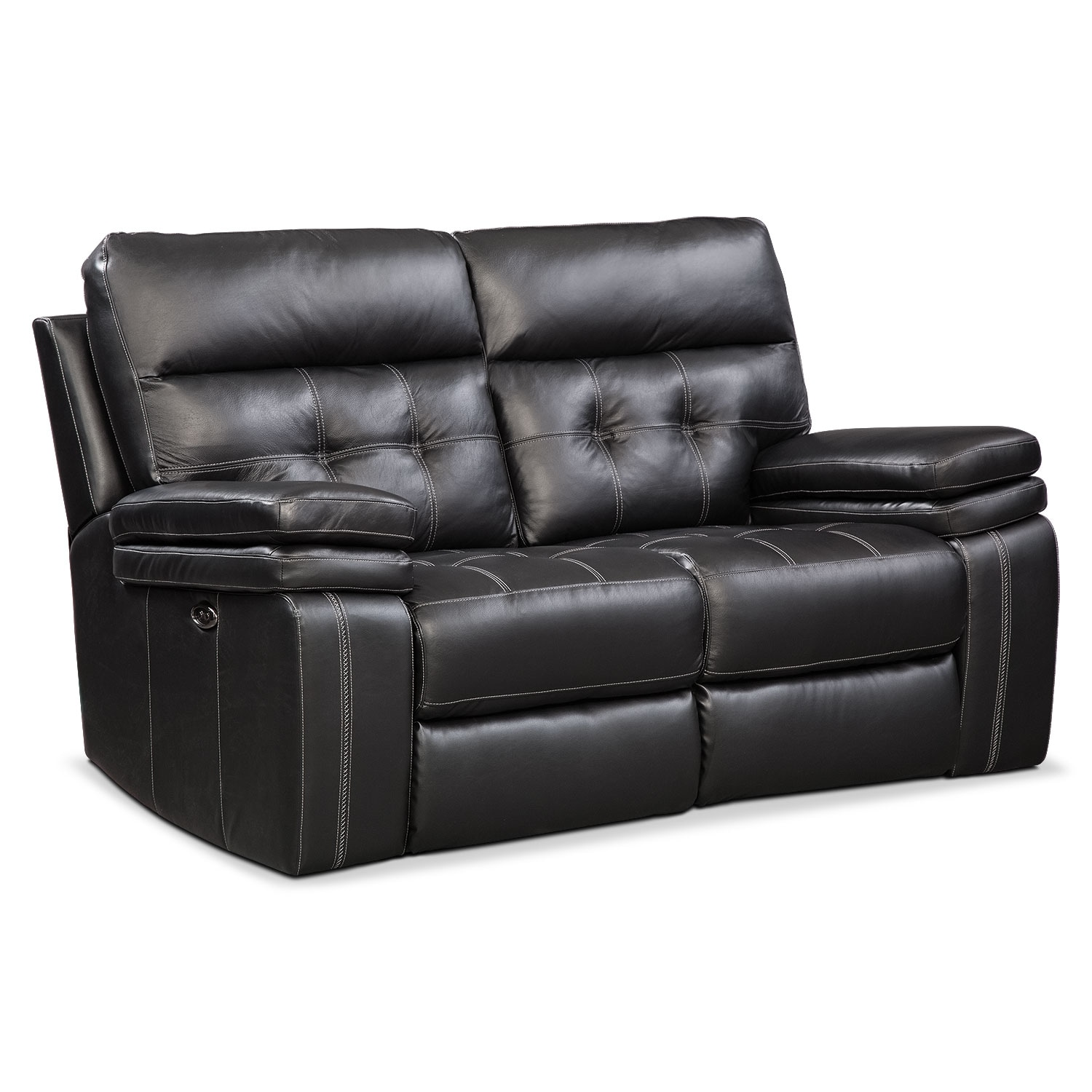 Brisco Power Reclining Sofa Reclining Loveseat And Glider Recliner Set Black Value City