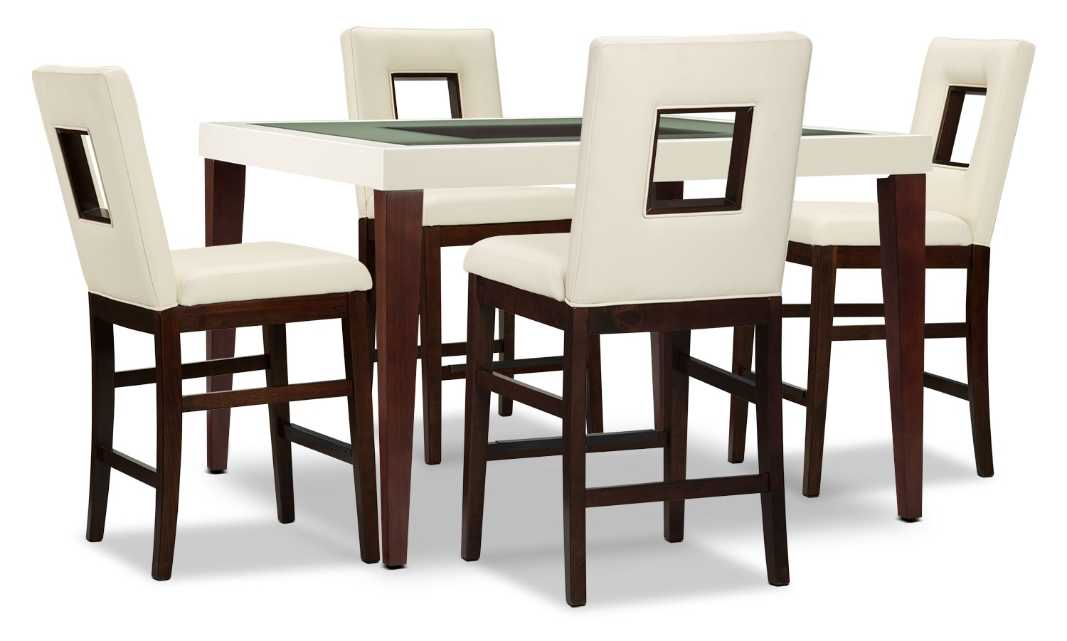 Dining Room Furniture - Zenoe 5-Piece Counter-Height Dining Package