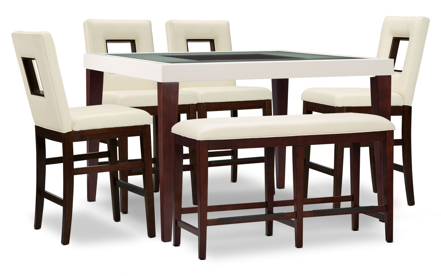 Zenoe 6-Piece Counter-Height Dining Package