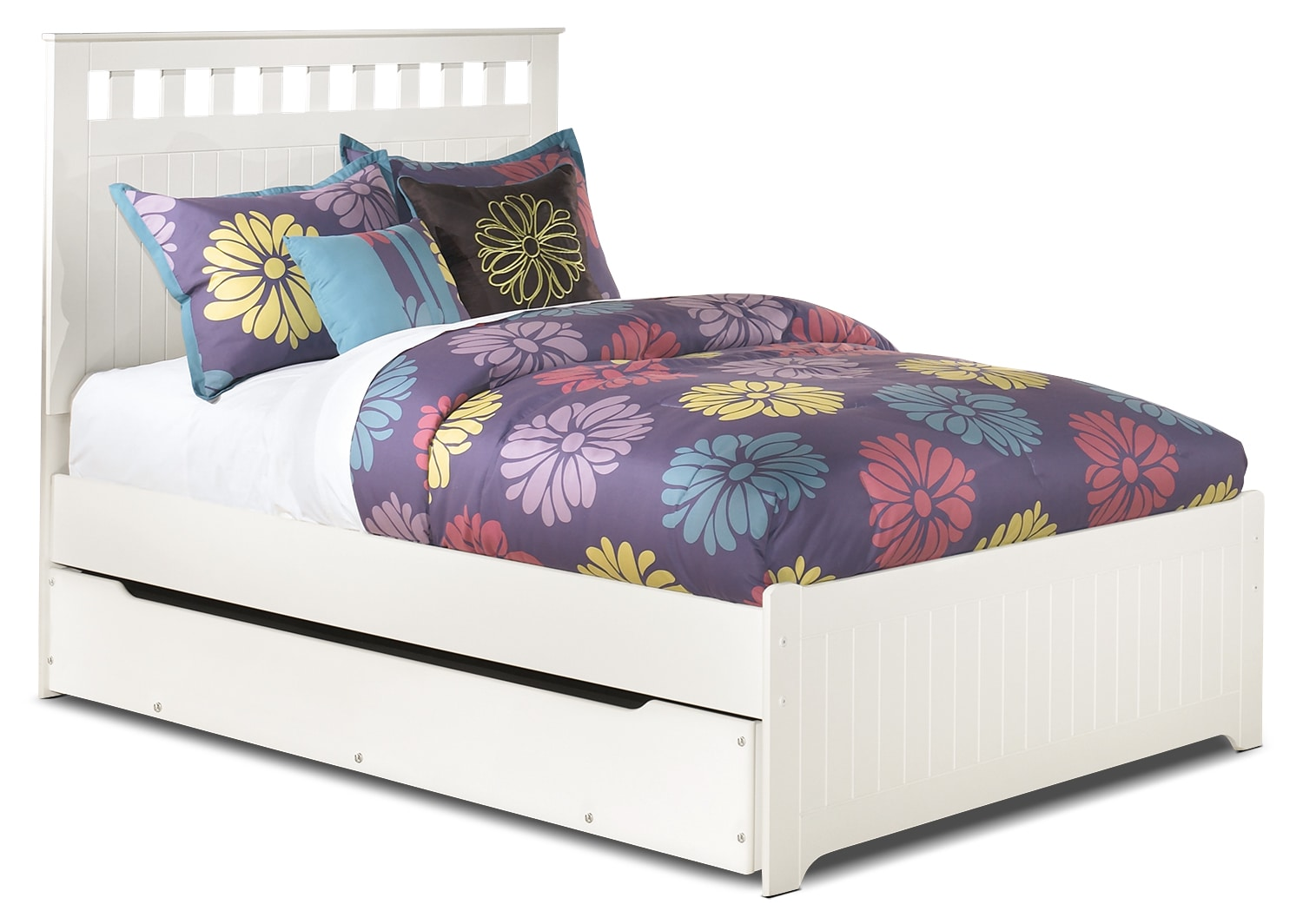 Kids Furniture - Lulu Full Panel Bed with Trundle