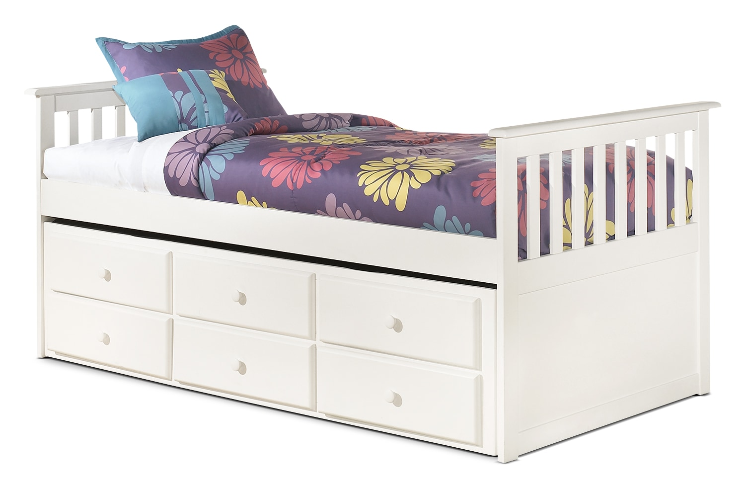 Kids Furniture - Lulu Twin Captain's Trundle Bed