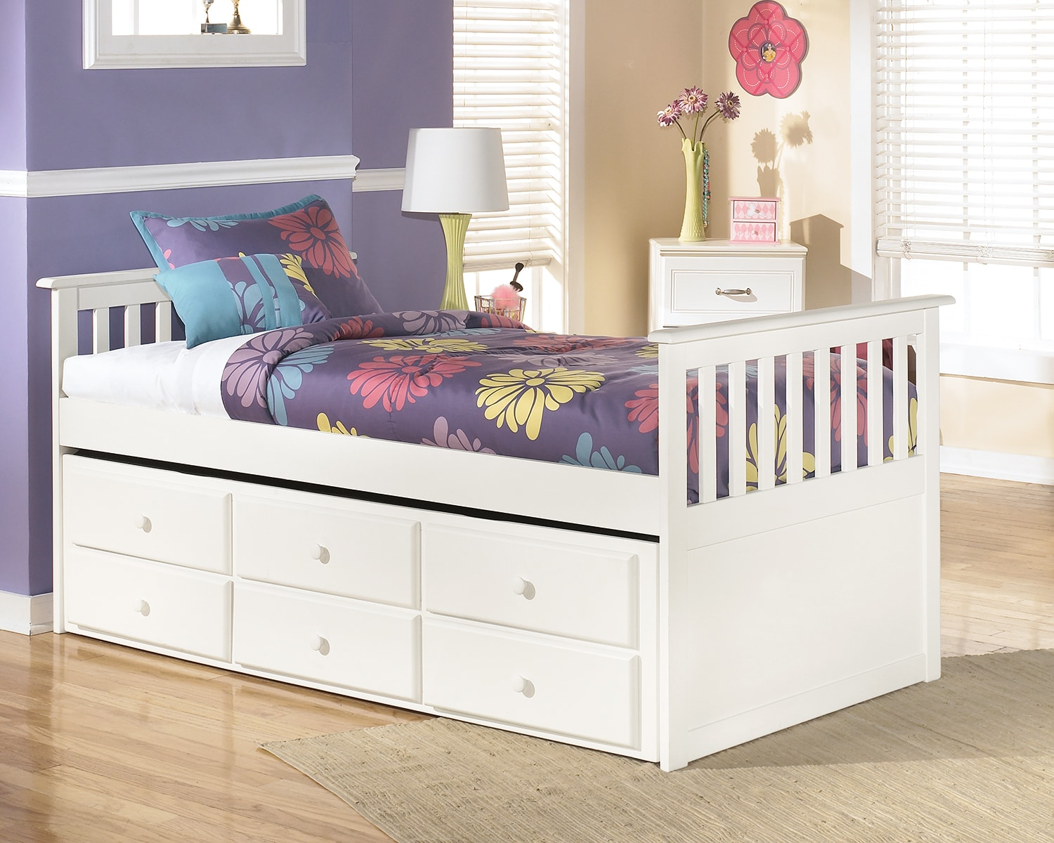 lulu twin captain's trundle bed  the brick -