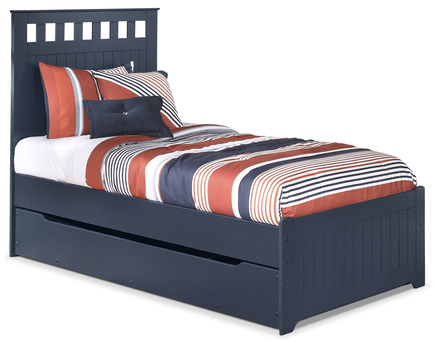 Leo Twin Panel Bed with Trundle