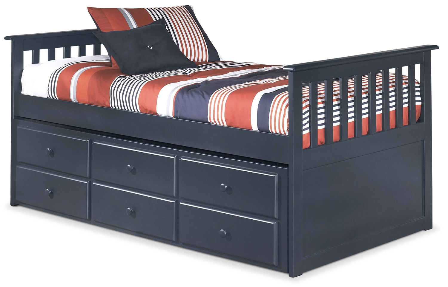 Kids Furniture - Leo Twin Captain's Trundle Bed