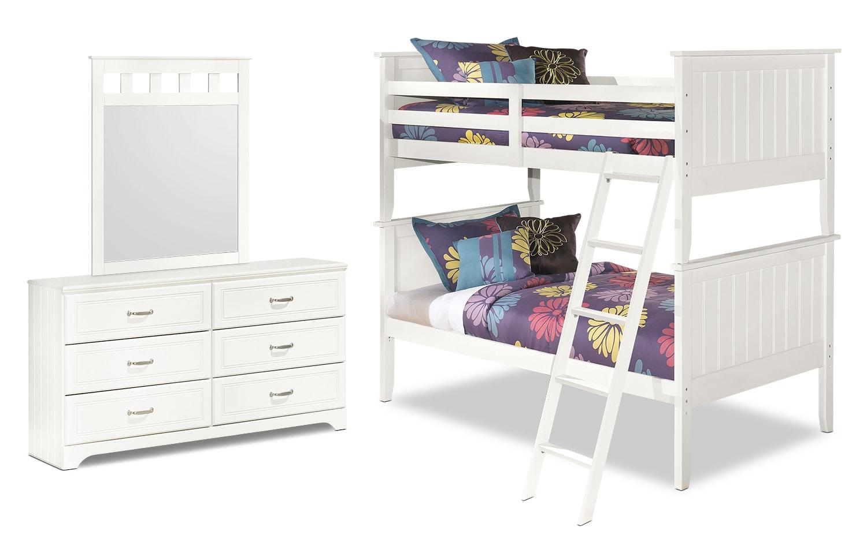 Lulu 5-Piece Twin Bunk Bed Package