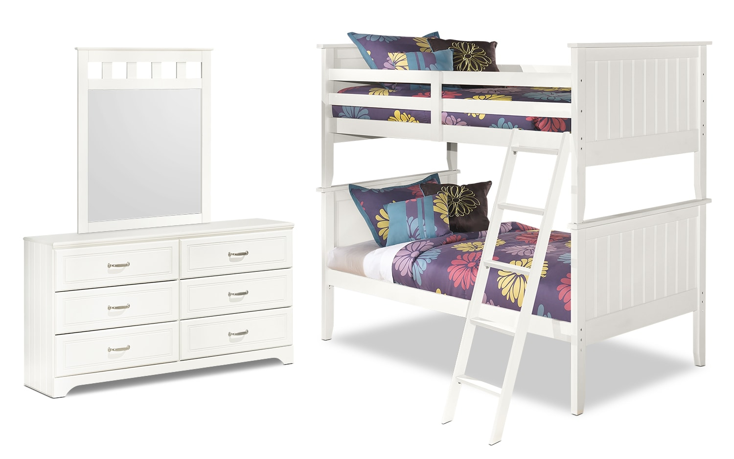 Kids Furniture - Lulu 5-Piece Twin Bunk Bed Package