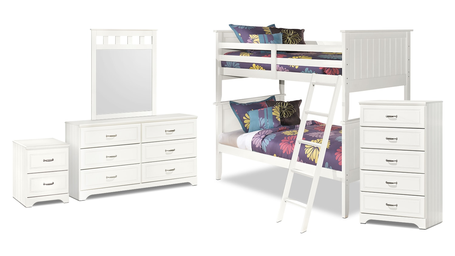 Lulu 7-Piece Twin Bunk Bed Package
