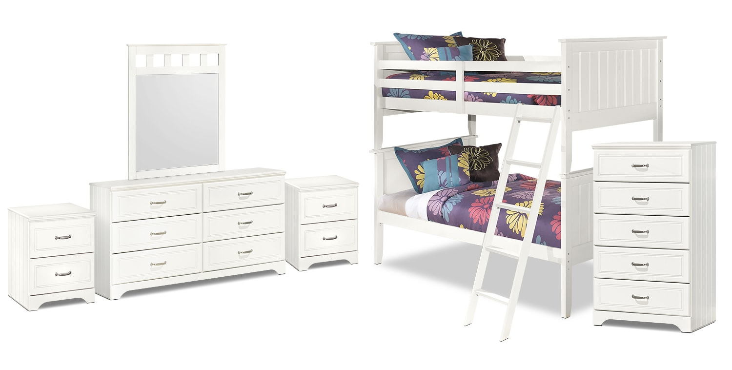 Lulu 8-Piece Twin Bunk Bed Package