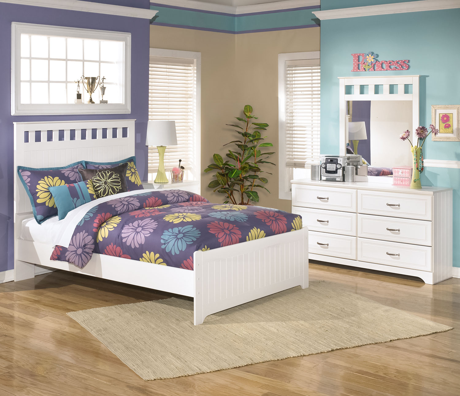 Kids Furniture - Lulu 5-Piece Full Panel Bedroom Package