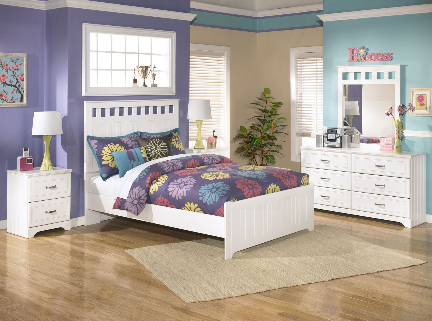 Kids Furniture - Lulu 6-Piece Full Panel Bedroom Package