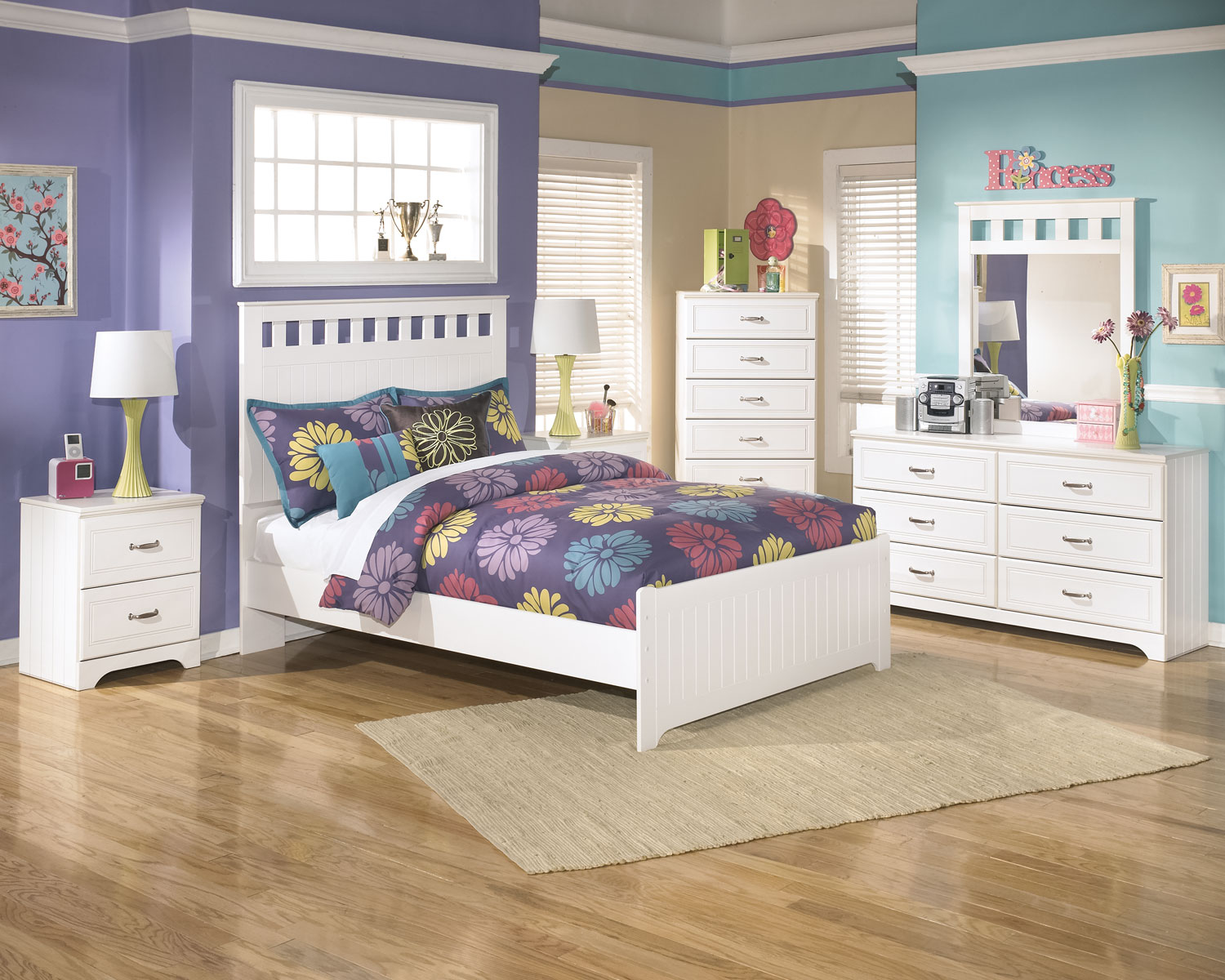 Kids Furniture - Lulu 8-Piece Full Panel Bedroom Package