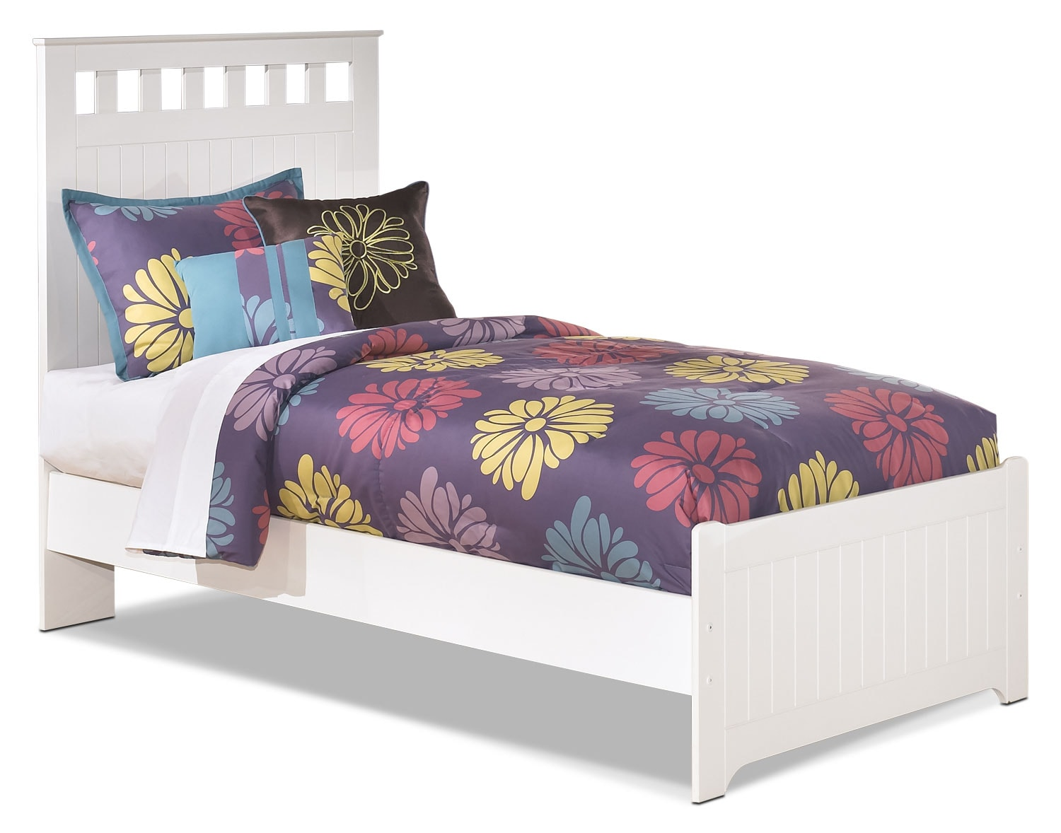 Kids Furniture - Lulu Twin Panel Bed