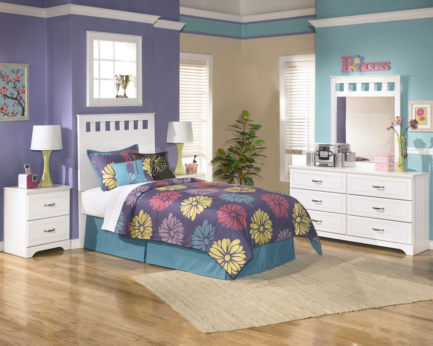 Kids Furniture - Lulu 4-Piece Twin Panel Headboard Package