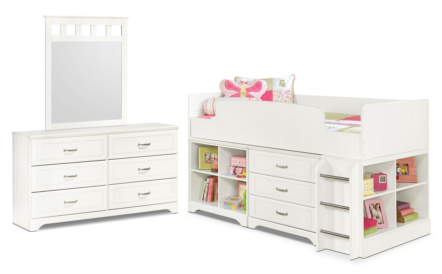 Kids Furniture - Lulu 5-Piece Twin Loft Bedroom Package