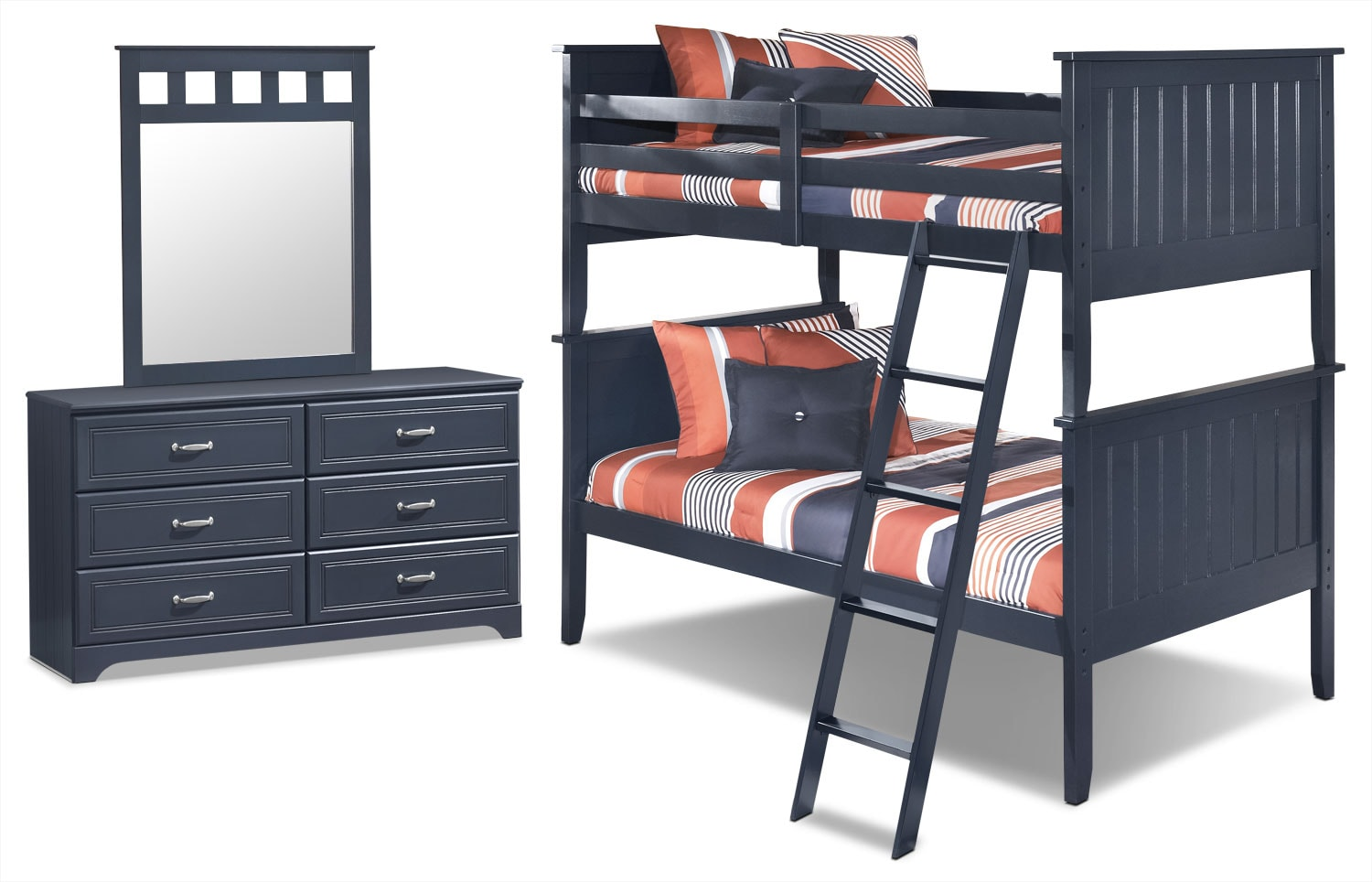Kids Furniture - Leo 5-Piece Twin Bunk Bed Package