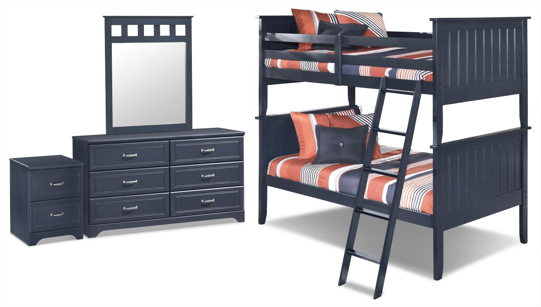 Ensemble Leo 6 pièces avec lits simples superposés