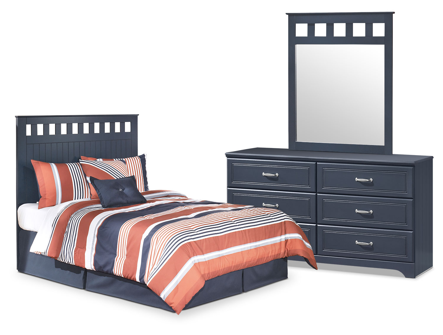 Kids Furniture - Leo 3-Piece Full Panel Headboard Package