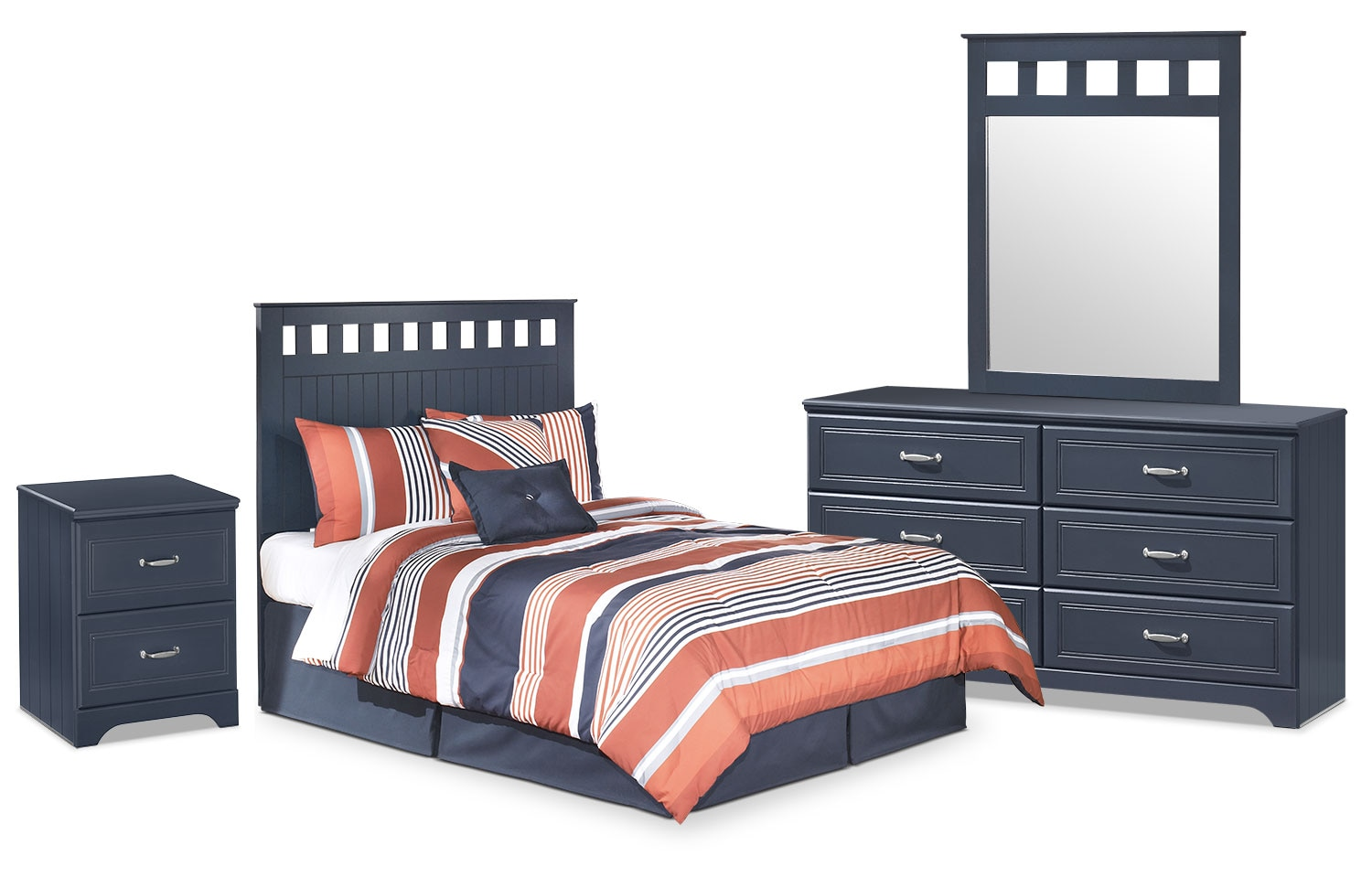 Kids Furniture - Leo 4-Piece Full Panel Headboard Package