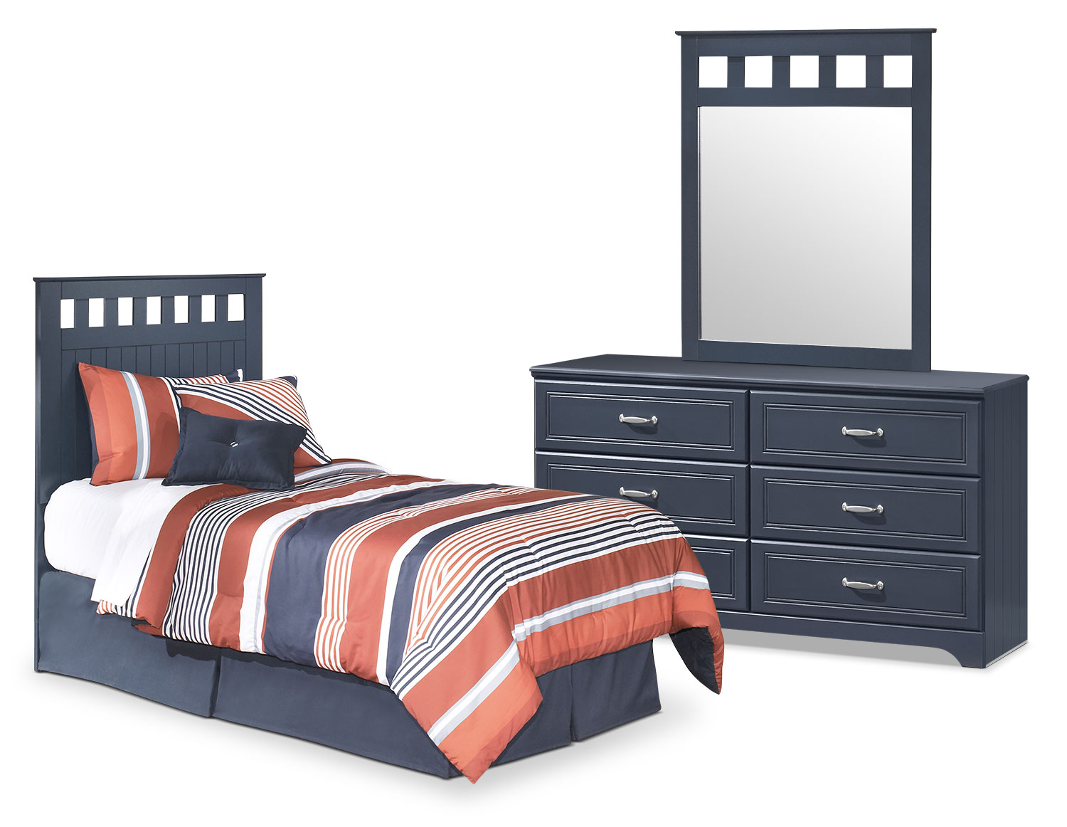 Kids Furniture - Leo 3-Piece Twin Panel Headboard Package