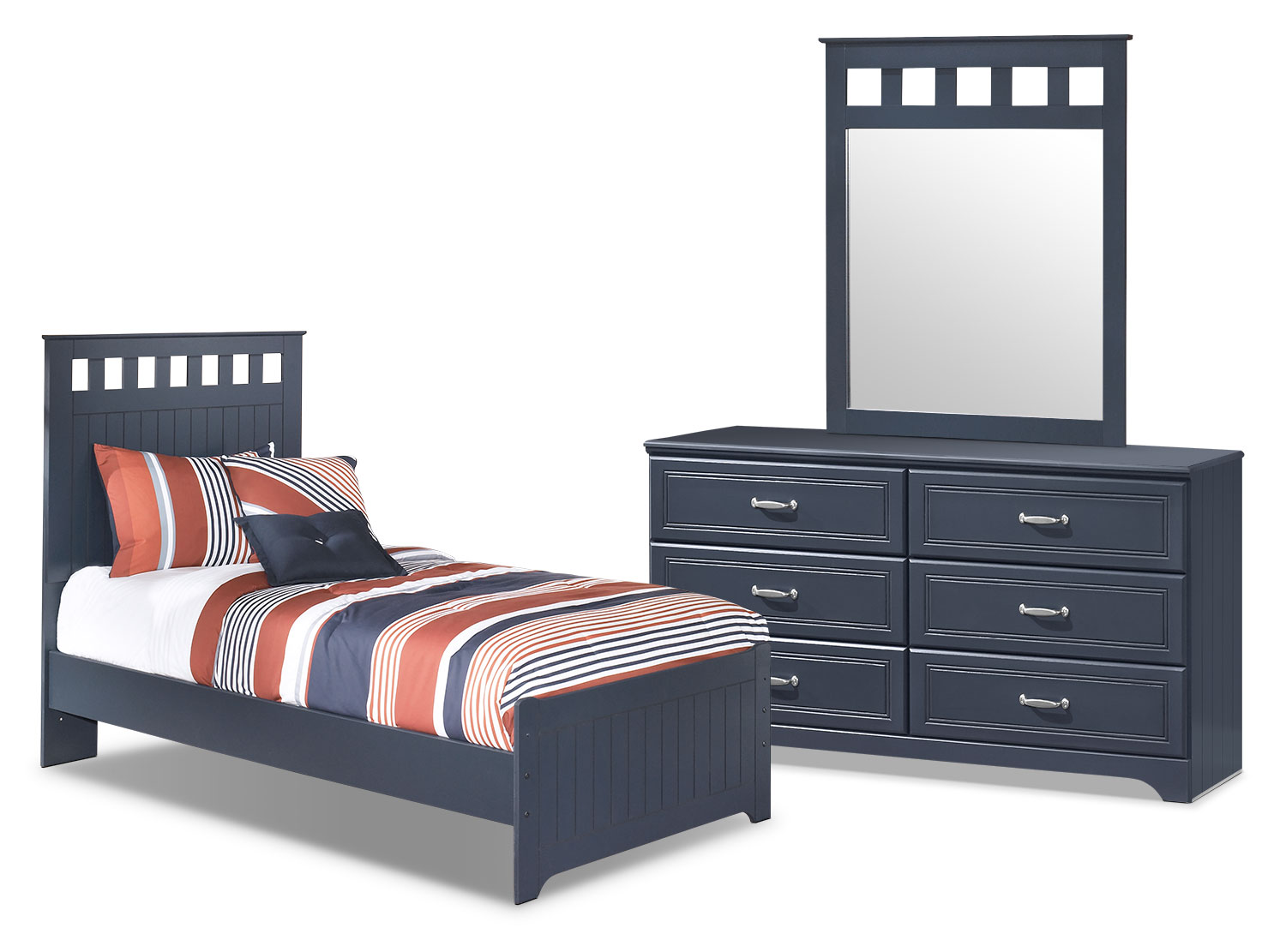 Kids Furniture - Leo 5-Piece Full Panel Bedroom Package