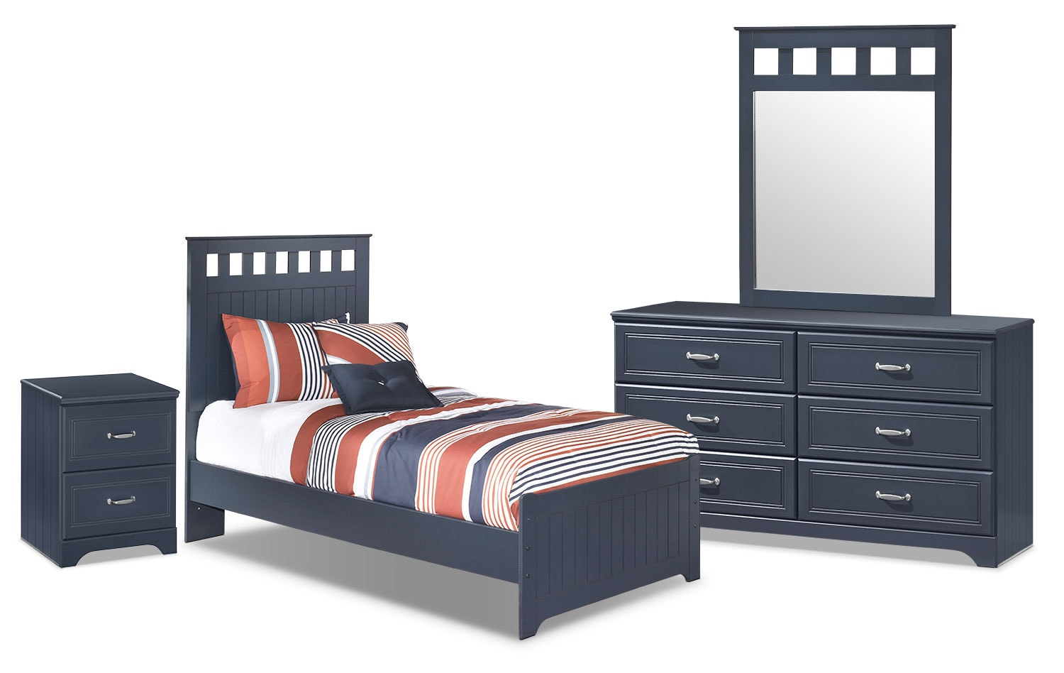 Kids Furniture - Leo 6-Piece Twin Panel Bedroom Package