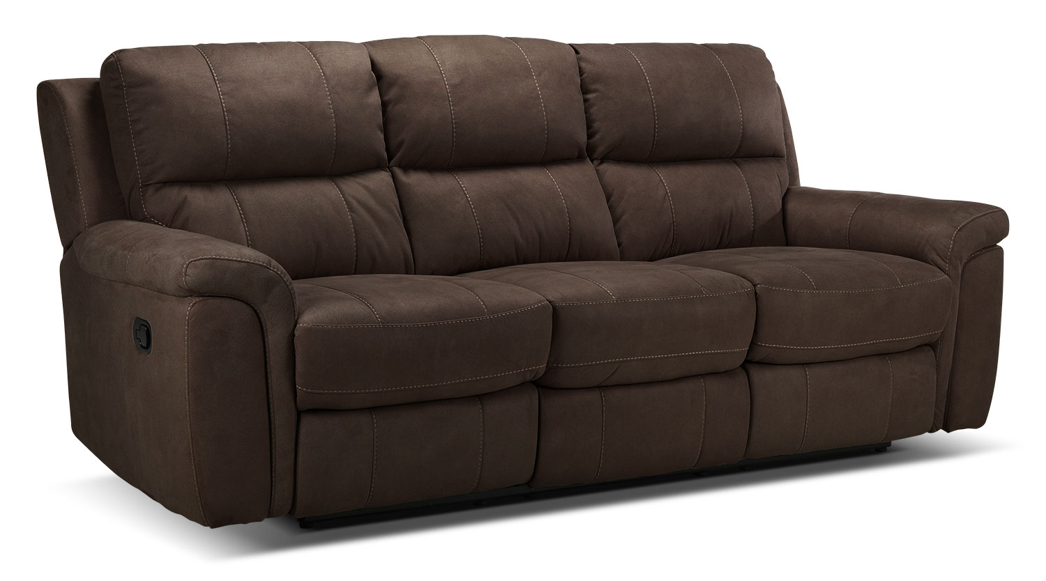 Living Room Furniture - Roarke Reclining Sofa - Walnut