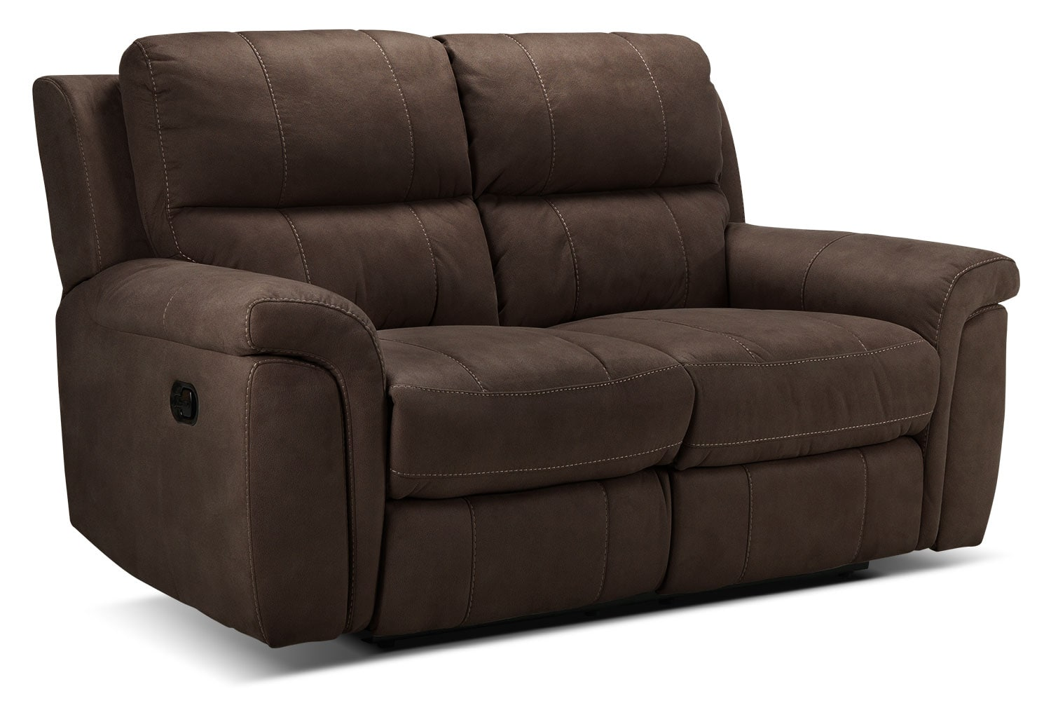 Living Room Furniture - Roarke Reclining Loveseat - Walnut
