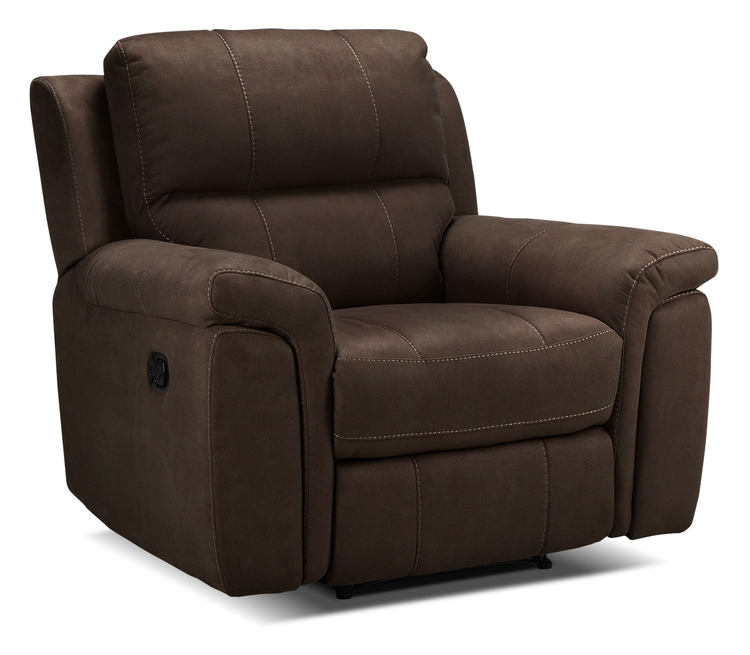 Living Room Furniture - Roarke Recliner - Walnut