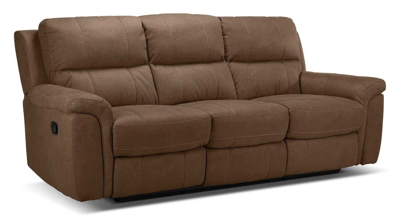 Living Room Furniture - Roarke Reclining Sofa - Tobacco