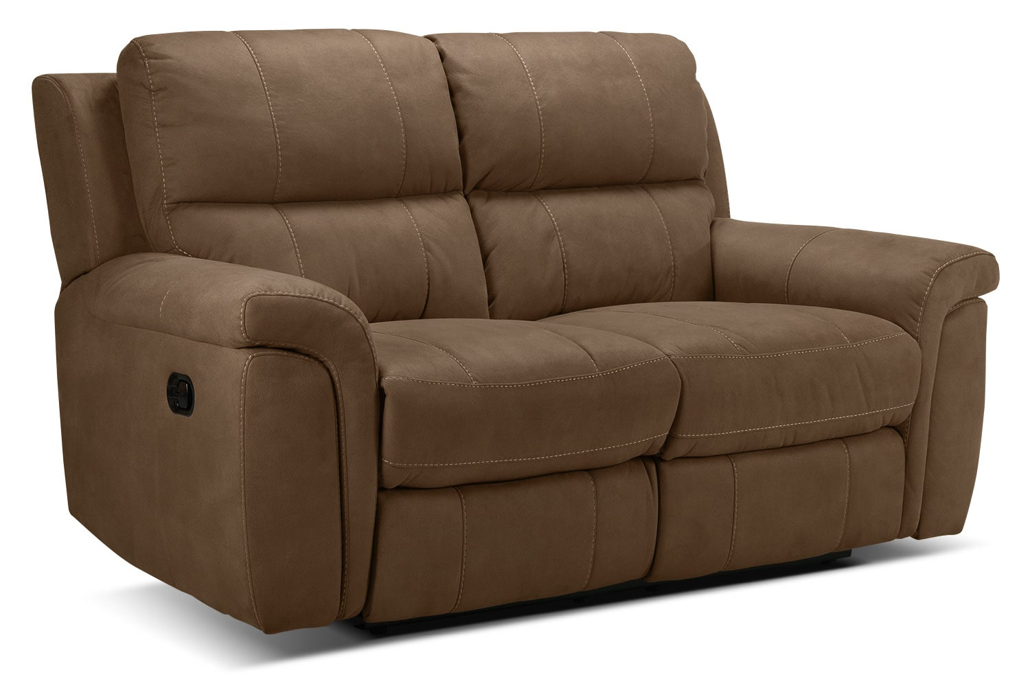 Living Room Furniture - Roarke Reclining Loveseat - Tobacco