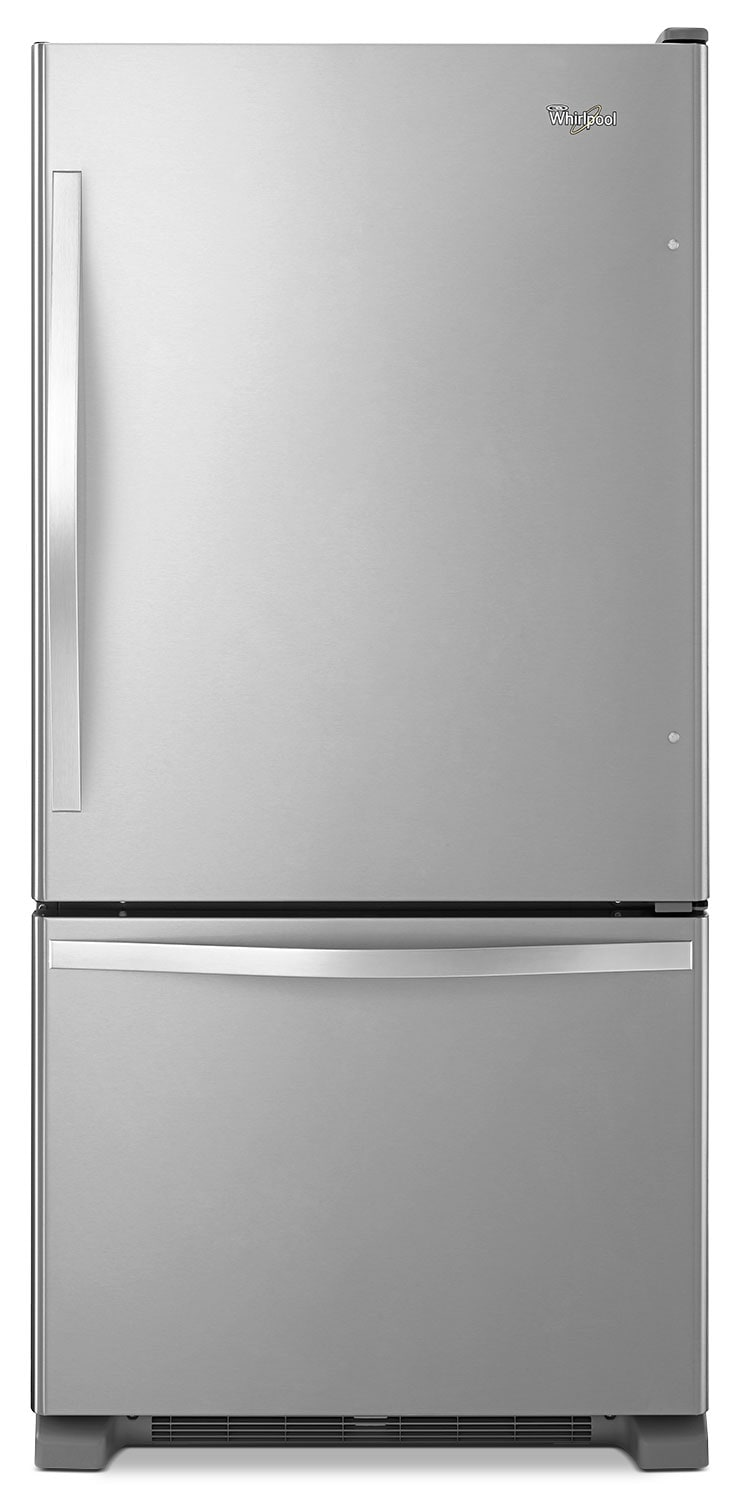 Whirlpool 19 Cu. Ft. Bottom-Mount Refrigerator – Stainless Steel