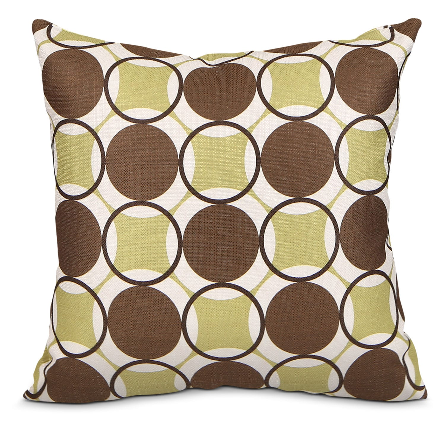 Accent and Occasional Furniture - Kaleidoscope Accent Pillow – Green, Brown and Ivory