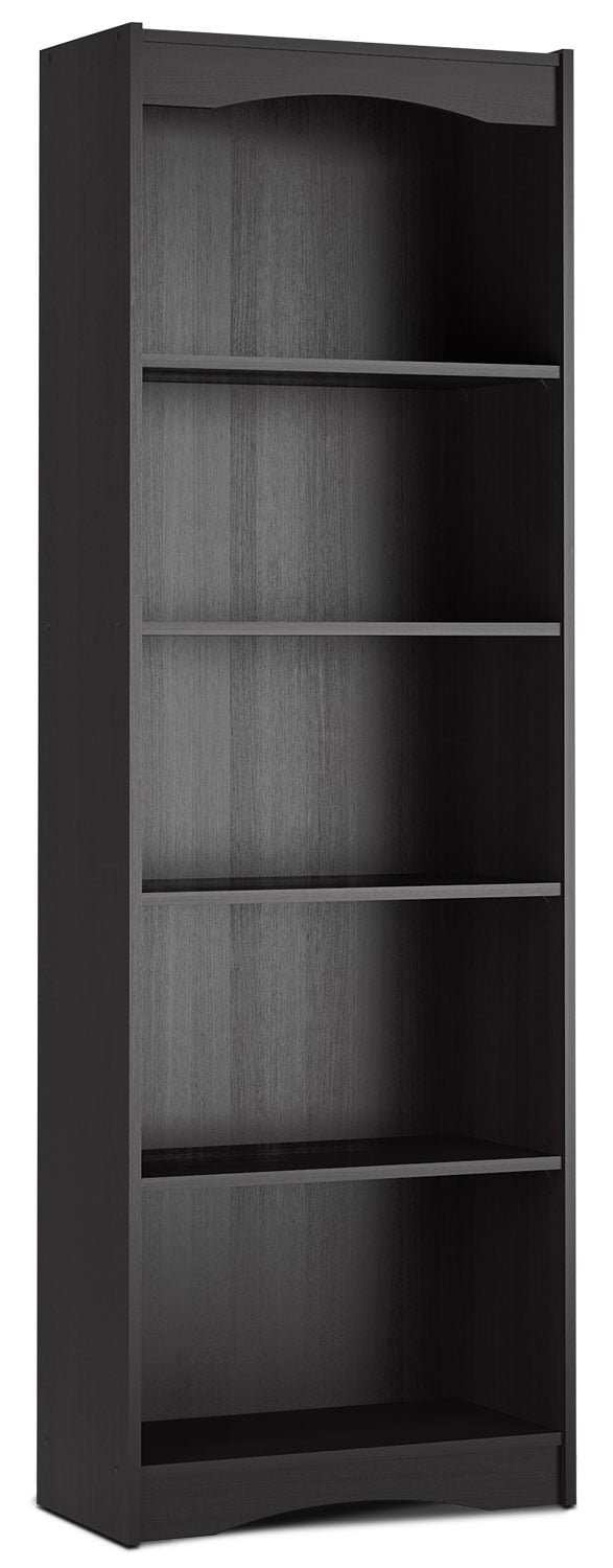 "Home Office Furniture - Hawthorn 72"" Bookcase – Midnight Black"
