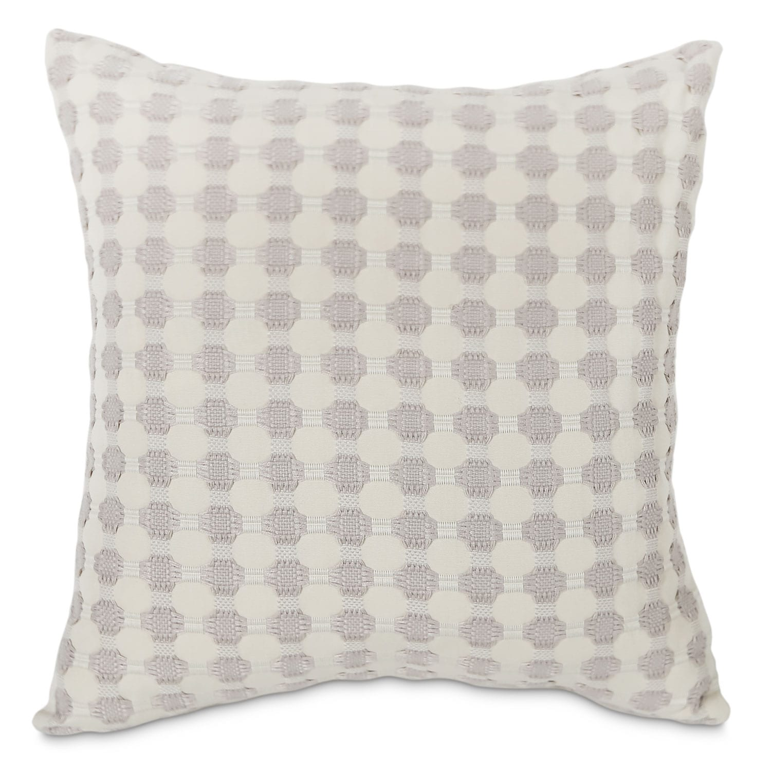 Cromwell Accent Pillow – Taupe and White