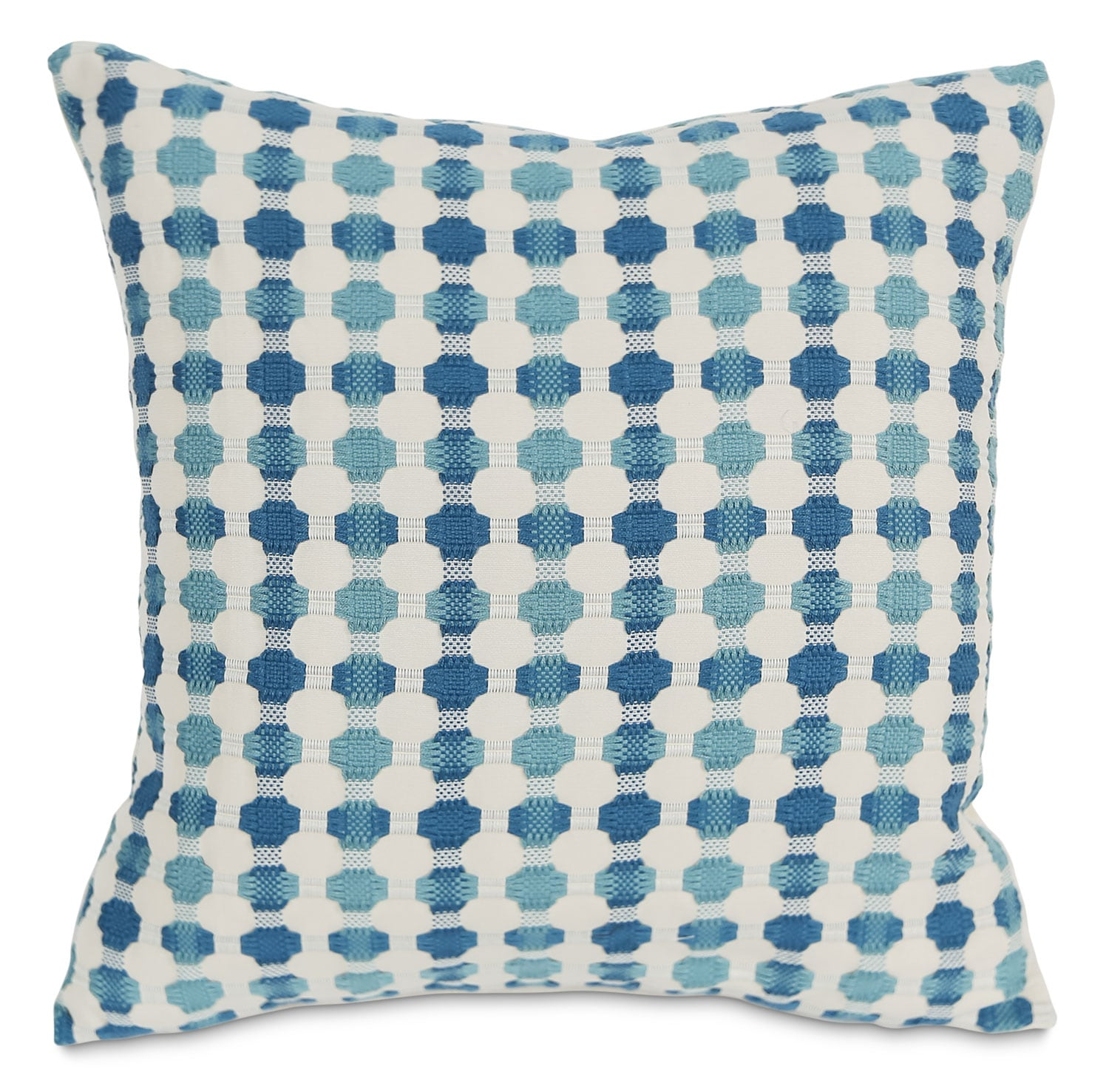 Cromwell Accent Pillow – Teal and White
