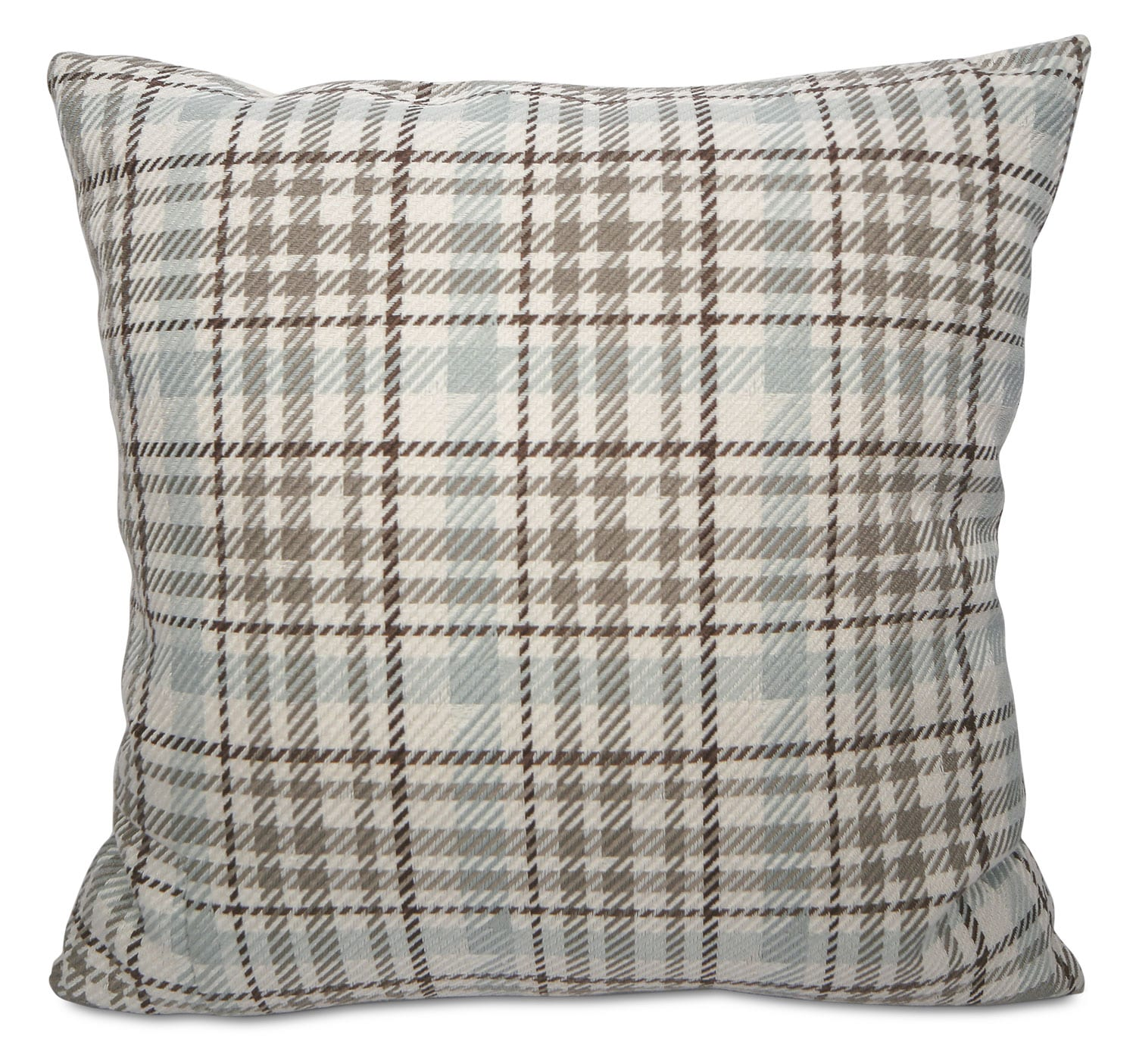 Kirk Accent Pillow – Blue, Taupe and Ivory