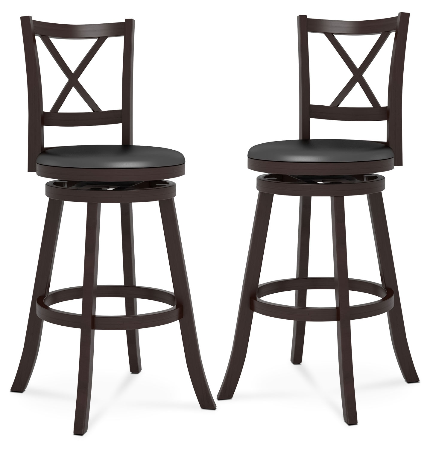 "Dining Room Furniture - Woodgrove 43"" Bar Stool, Set of 2 – Cross Back"