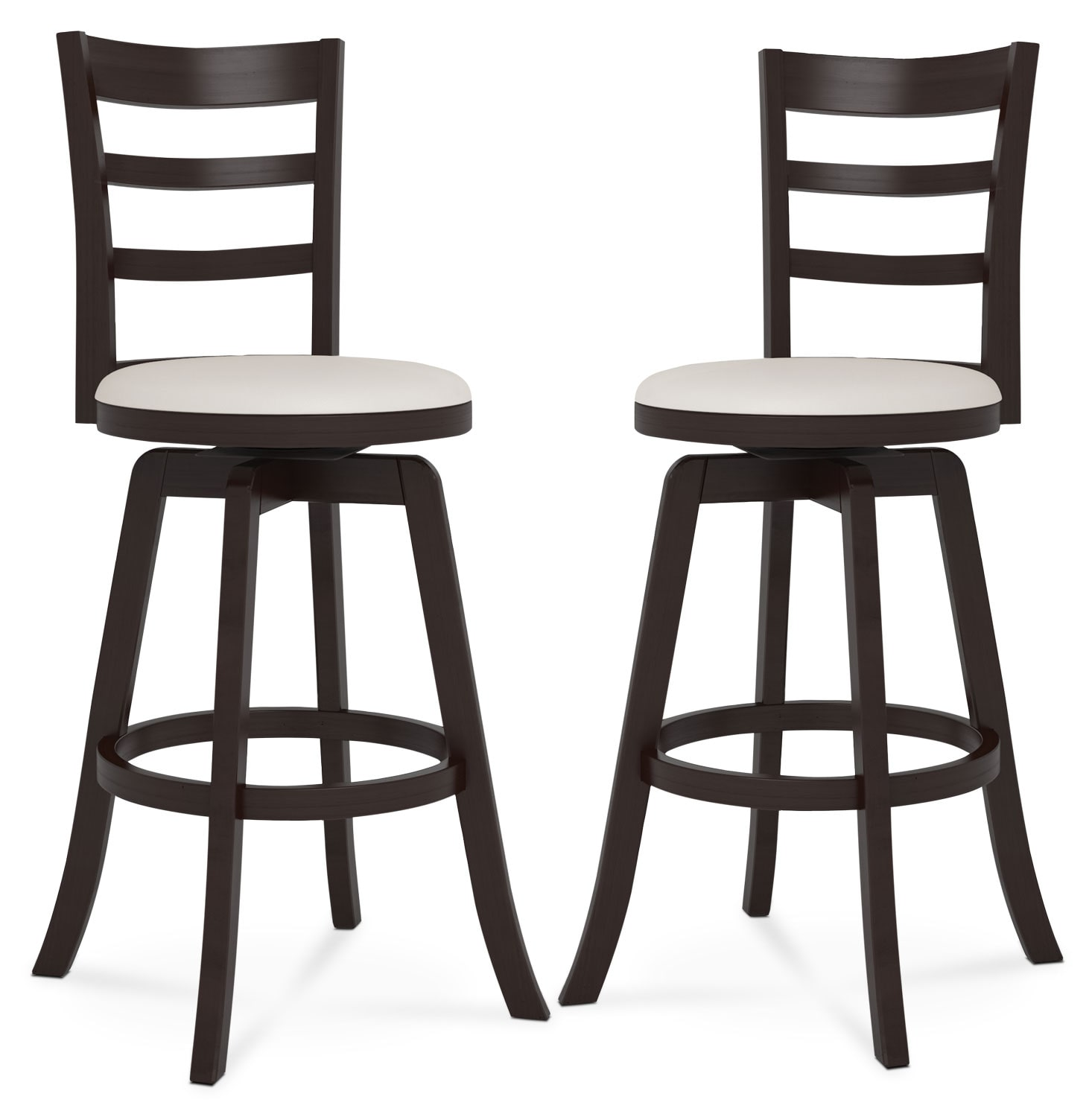 "Dining Room Furniture - Woodgrove Three-Bar 43"" Barstool, Set of 2"